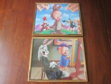 1994 Warner Brothers - Lot of 2 - Bugs Bunny Elmer Fudd Daffy Duck Lithographs