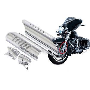 Lower Fork Leg Deflector For Harley Touring Road King Electra Glide FLHT 00–09
