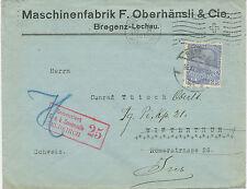 "2132 ""Zensuriert / K.u.K. Zensurstelle 25 / FELDKIRCH"" selt. lila L3 a. Kab.-Bf"