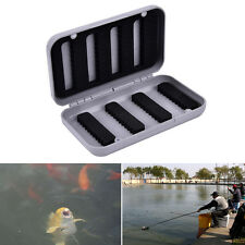 Box Foam Waterproof Plastic Bait Hook single Side Lure Storage Fly Fishing FC
