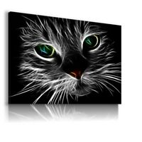 PAINTING DOMESTIC CATS NATURE PRINT CANVAS WALL ART PICTURE LARGE WS83 MATAGA .