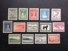 NEWFOUDLAND 1941-44. KGVI. Complete Set Sc#253-66 (14)  MLH OG