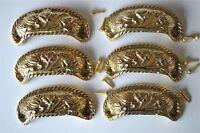 6 brass antique cup drawer handle dresser draw pull handle c/w screws 2002