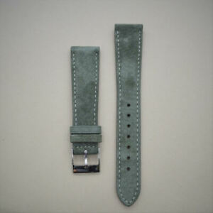 Suede Leather Watch Strap - 18mm or 20mm - Gray, Green, Black