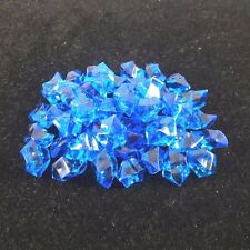 50Pcs/Set Aquarium Fake Stone Imitation Gems Crystal Decorations New – Dark Blue