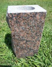 "Granite Vase Dakota Mahogany (5""x4""x9"")"