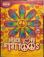 Girl Flower Heart Peace Love Star Temporary Tattoo Body Art OVER 35 NEW-Sealed