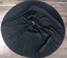 Vintage 1950'S Black Rayon Taffeta Circle Skirt Sz 9