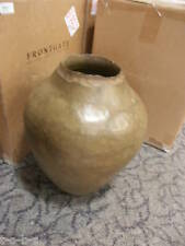 Frontgate Oil Rustic Planter Jar outdoor stone Urn Flower Pot Stand $280