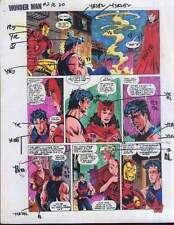 Original 1991 Marvel Avengers Wonder Man/Iron Man/Scarlet Witch color guide art