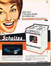 PUBLICITE  1966   SCHOLTES   cuisinière