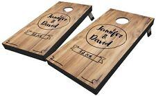 Rustic Script Custom Cornhole Boards