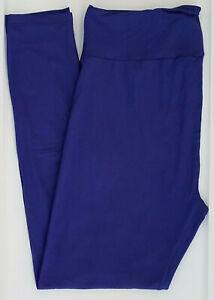 TC LuLaRoe Tall Curvy Leggings Beautiful Solid Violet Cobalt Blue NWT 30