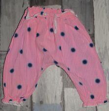 ~ KIABI ~ Superbe Pantalon / Sarouel en coton rose à pois fille 6 mois ~