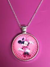 Minnie Mouse Pendant Necklace/ Pendant/Charm/Pink/Minnie Mouse/Cute/Classic