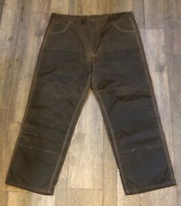 Red Wing Irish Setter Double Knee Tin Cloth Waxed Pants Hunting Logger 42x32