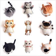 Cats Needle Felting Kit for Beginners DIY Gift Wool Felting Kit English Manual