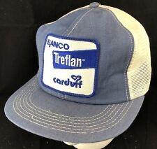 Vtg Elanco Treflan Trucker Hat Snapback Patch Denim Cap Herbicide Farmer K Brand
