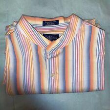 Men's Paul Frederick 100% Cotton, Bright Colors Stripe XL