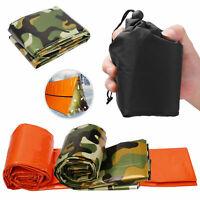 Camouflage Emergency Sleeping Bag Thermal Waterproof Survival For Camping Hiking