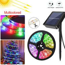RGB Solar LED Strip Streifen 5m 150LED Lichtband 2835SMD Band Lichterkete Garten