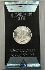 1884-CC GSA Morgan Silver Dollar $1 Coin ANACS MS-62 with Box & COA