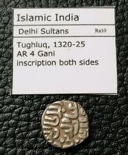 More details for islamic india silver coin, delhi sultans, 1320-1325,tughluq, ar 4 gani. 3.6g