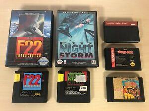 Sega Genesis Lot of 5 Games - Jungle Book F22 F-117 Night Storm Quad Challenge