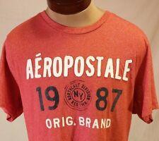 Aeropostale 1987 NY Original Brand Red Short Sleeve T-Shirt Size XL