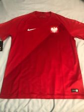 Nike 2018 Poland Stadium Away Men's Soccer Jersey Authentic Nwt Size L