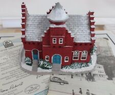 "Rockwell's Christmas village Sculptures ""Town Offices"" 1989 train village Iob"