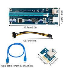 USB3.0 PCI-E PCI Express 1x a 16x Cable Extensor Gráficos Adaptador de tarjeta