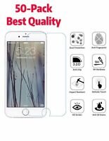 50x Wholesale Lot Tempered Glass Screen Protector for iPhone Xs MAX 8 6s 7 Plus