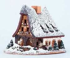 Ceramic house tea light holder Old Smithery Winter Rothenburg Midene Christmas