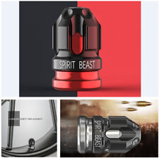 2 Pcs Creative Motorcycle Tire Valve Cover Black & Red Lost Direct Replacement
