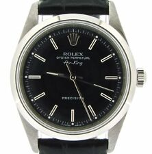 Rolex Air King Mens Stainless Steel Watch Sapphire Crystal Black Band Dial 14000