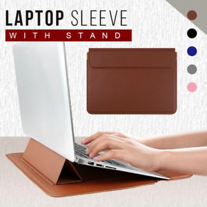 """Multi-function Laptop Sleeve Leather Sleeve Bag Cover Case For 13""""-15.4 MacBook"""