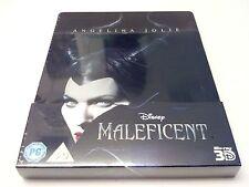 Disney's Maleficent 3D Embossed STEELBOOK + GIFT (Bluray UK) RARE REGION FREE