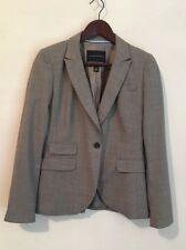 Banana Republic Vergin Wool Gray One Button Blazer Jacket Size 8