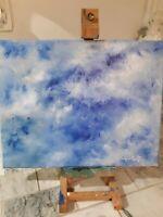Original Painting Oil Clouds Blue Skies Canvas Art Impressionism sky Crossley