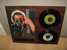 Jerry Garcia 45 RPM Records - Vintage Rock & Roll Plaque Artwork Grateful Dead
