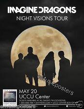 "Imagine Dragons ""Night Vision Tour"" 2013 Salt Lake City Concert Poster"