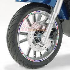Piaggio Beverly 300 - Adesivi Cerchi – Kit ruote modello tricolore corto