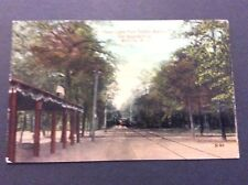 UNION LAKE PARK TROLLEY STATION Postcard Millville, New Jersey  Circa 1920