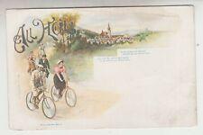 ca. 1900 Litho All Heil Radfahrer