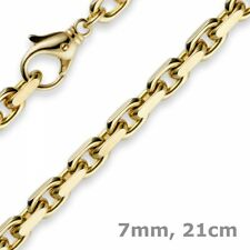 0 9/32in Chain Bracelet Anchor Chain,750 Yellow Gold,Gold Bracelet,8