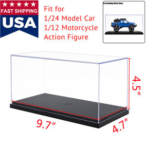 """US Clear Acrylic Plastic Display Box Case Protection Toys Dustproof Big Size 10"""""""