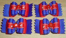 Pretty Dark Blu e Rosso mostra tipo Toelettatura Fiocchi Perline Centro