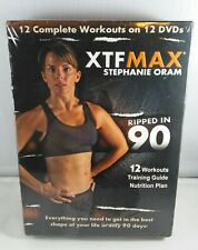 Xtf Max 12 Dvd Complete Workout Set Stephanie Oram Training Guide Nutrition Plan