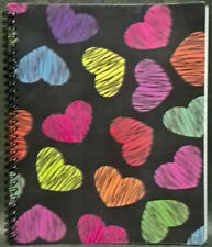 Piccadilly Notebook LOT OF 2 Spiral Notebook W/ HEARTS 10.5x8.5 Notebooks NEW!